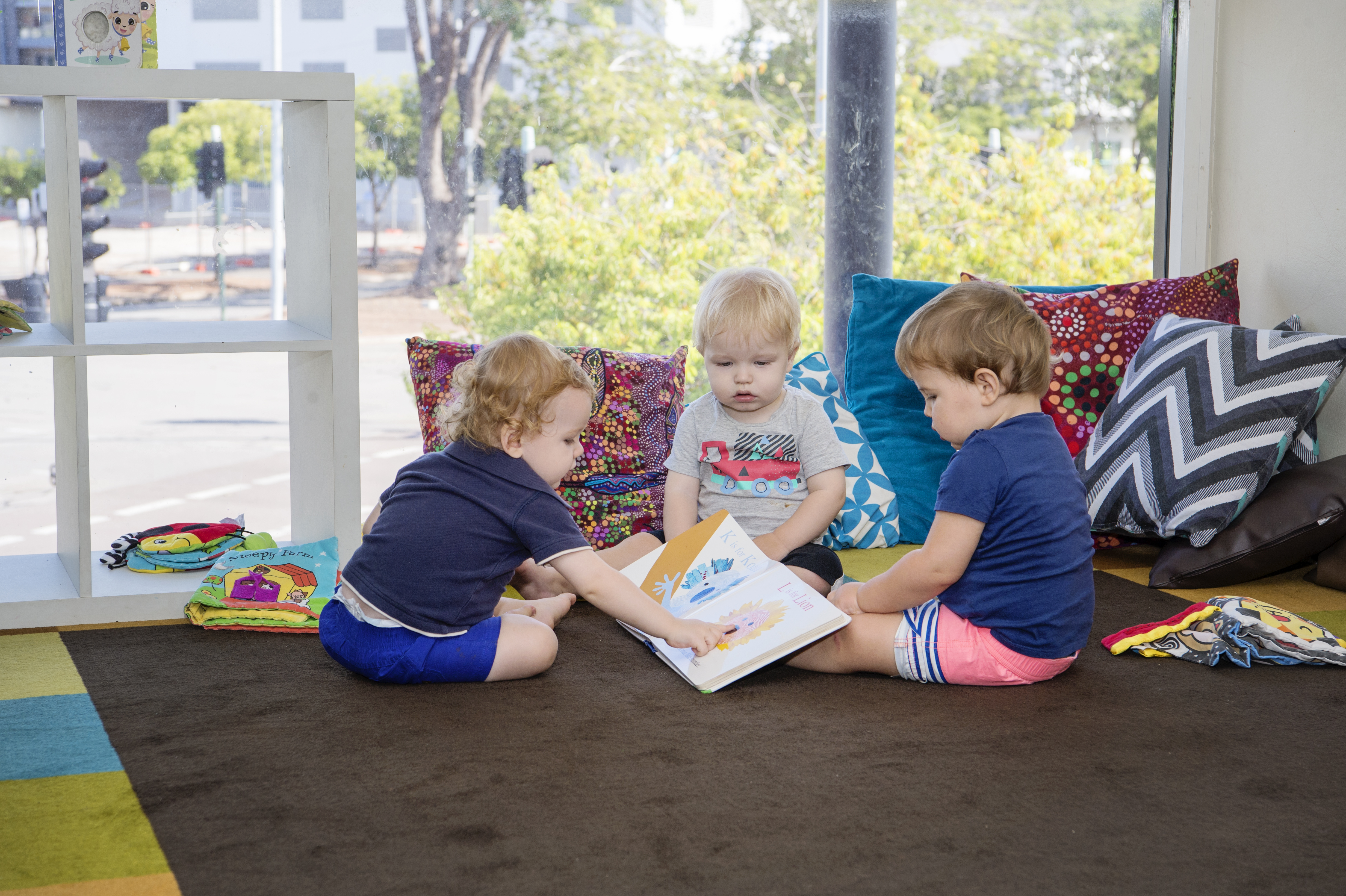Group of toddlers in classroom at Milestones Darwin City